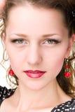 Face closeup of stunning beautiful caucasian woman Stock Images