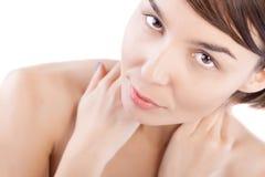 Female beauty portrait. Of a Caucasian model Stock Photo