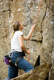 Female Belayer Royalty Free Stock Photo