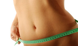 Female belly royalty free stock photography