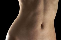 Female belly Stock Image