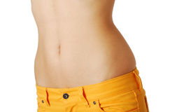 Female Belly Above Fit Low Jeans Stock Photography