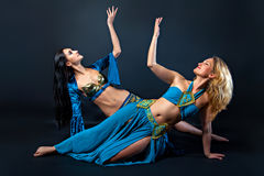 Female belly dancers Stock Image