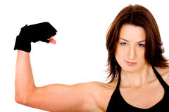 Female biceps Stock Photos