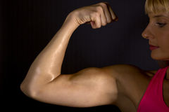 Female biceps Stock Images