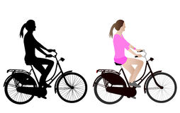Female bicyclist Royalty Free Stock Image