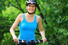 Female biker Royalty Free Stock Image