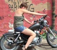 Female biker. Royalty Free Stock Photos