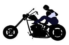 Female Biker Silhouette Stock Images