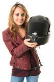 Female biker Royalty Free Stock Photography