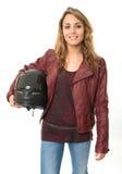 Female biker Stock Images