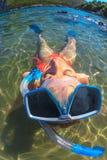 Female bikini snorkeler Stock Image