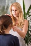 Female bioenergotherapist Stock Images