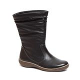 Female black boot isolated Stock Photo