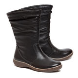 Female black boots Royalty Free Stock Photo
