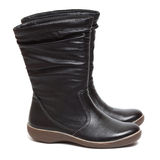 Female black boots Royalty Free Stock Images