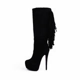 Female black boots Royalty Free Stock Photos