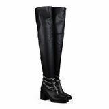 Female black boots Stock Images