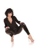 Female in black leggings Royalty Free Stock Photos