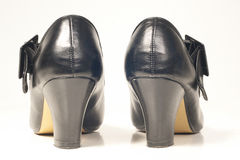 Female black shoes Royalty Free Stock Photo