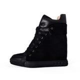 Female black shoes Stock Photography