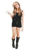 Female in black short Royalty Free Stock Photo