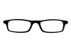 Female black spectacle frames Stock Photos
