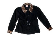 Female black winter jacket Stock Photo