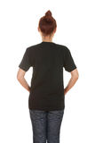 Female with blank t-shirt (back side) Stock Photography