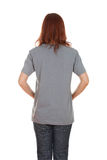 Female with blank t-shirt (back side) Royalty Free Stock Photo