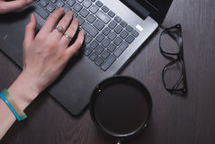 A female blogger. Stock Images