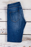 Female blue jeans. Royalty Free Stock Photos