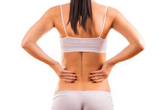 Female body with back inflammation Stock Photo
