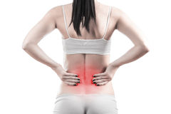 Female body with back inflammation. This image has attached release Royalty Free Stock Image