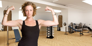 Female body builder Stock Photography