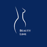Female body. Curvs shape of beautiful female body. Logo for cosmetic beauty products. Icon massage. Vector illustration Stock Images