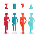 Female body shapes. Four types, vector Royalty Free Stock Photos