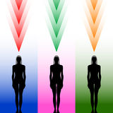 Female body silhouette Stock Images