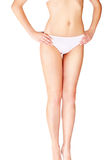 Female body in underwear Stock Images