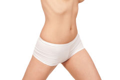 Female body in underwear isolated on white Royalty Free Stock Photo