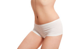 Female body in underwear isolated on white Stock Image