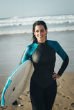 Female bodyboard surfer Stock Photo