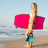 Female bodyboarder Royalty Free Stock Image