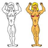 Female Bodybuilder Royalty Free Stock Photo