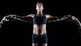 Female bodybuilder Stock Images