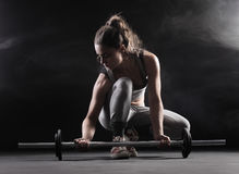 Female bodybuilder Royalty Free Stock Photography