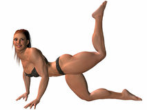 Female Bodybuilder Pose Royalty Free Stock Photo