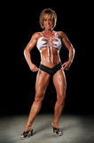 Female Bodybuilder Posing Royalty Free Stock Photography