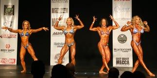 Female Bodybuilders Posedown at 2016 NPC Universe Royalty Free Stock Image