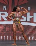 Female Bodybuilding Champ at 2018 Toronto Pro Supershow Royalty Free Stock Photos